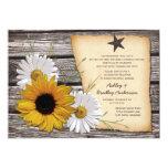 Rustic Sunflower Daisy Wedding Reception Only 13 Cm X 18 Cm Invitation Card