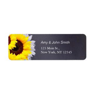 Rustic sunflower wedding address labels sunflwr2