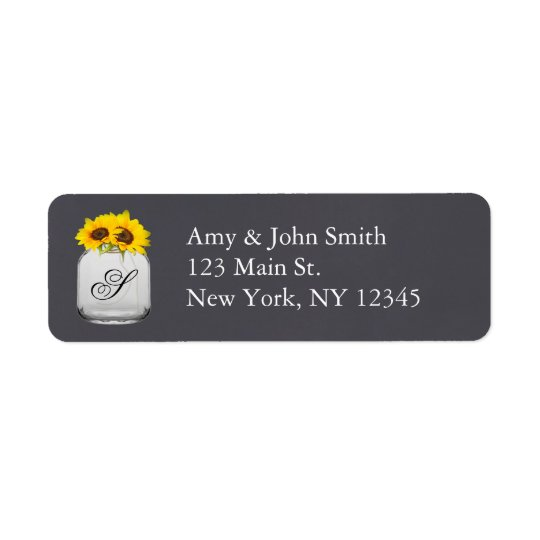 Rustic sunflower wedding address labels sunflwr7
