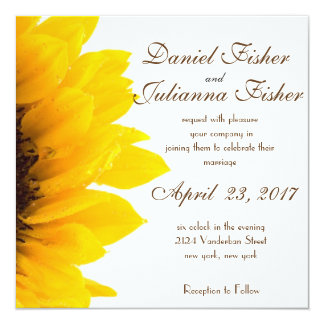 Rustic Sunflower Wedding Invitation