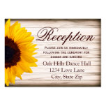 Rustic Sunflower Wedding Reception Enclosure Card Pack Of Chubby Business Cards