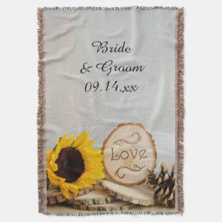 Rustic Sunflower Woodland Wedding