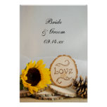 Rustic Sunflower Woodland Wedding Poster