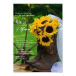 Rustic Sunflowers Country Wedding Invitation