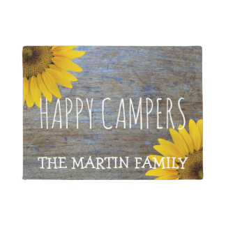 Rustic Sunflowers Country Wood | Happy Campers Doormat