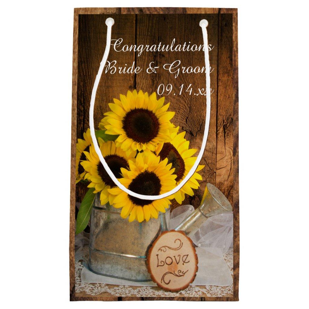 Rustic Sunflowers Garden Wedding Congratulations