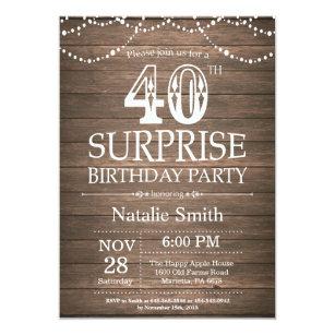 Surprise 40th Birthday Invitations Zazzle Uk