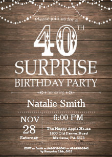 surprise 40th birthday invitations zazzle uk