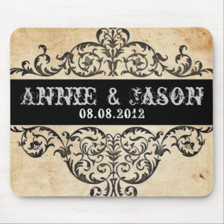 rustic swirls western country wedding mouse pad