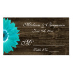 Rustic Teal Gerber Daisy Wedding Place Cards Pack Of Standard Business Cards