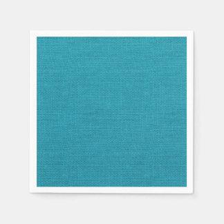 Rustic Teal Turquoise Burlap Texture Paper Napkin
