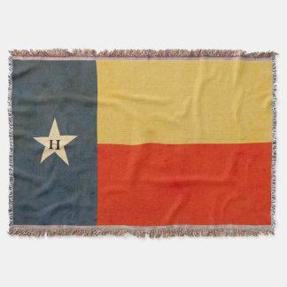 Rustic Texas Flag Personalised Throw Blanket