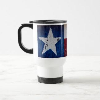 Rustic Texas Flag Travel Mug