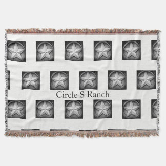 Rustic Texas Lonestar Personalized Throw Blanket