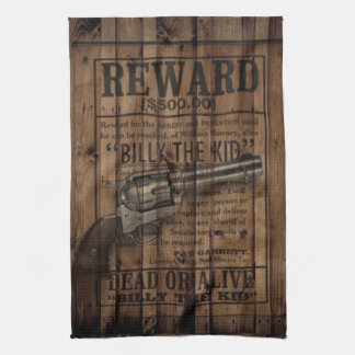 rustic texas star cowboy western country dual gun tea towel