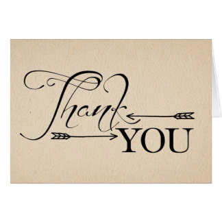 Rustic Thank You Arrows Folding Card