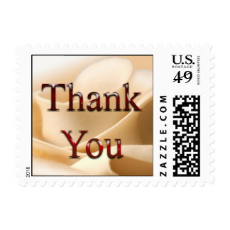Rustic Thank You Cream Rose Wedding Postage Stamp