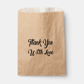 Rustic  Thank You Wedding Bridal Shower Party Favour Bags