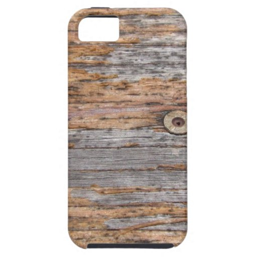 Rustic Timber and Nails iPhone 5 Cases