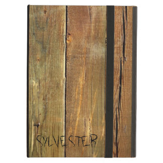 Rustic Timber Plank Monogram iPad Air Case