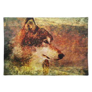 Rustic Timber Wolf Place Mat