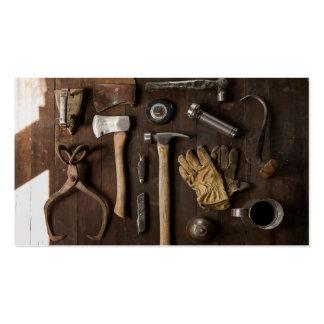 Rustic Tools Business Card Templates