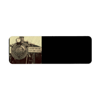 Rustic Train Return Address Label
