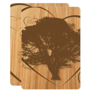 Rustic Tree 5th Wedding Anniversary Invitation