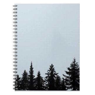 Rustic Tree Line Silhouette Notebook
