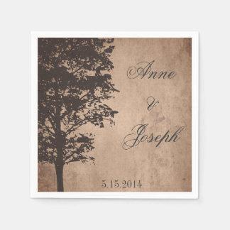 Rustic Tree Vintage Napkins Paper Napkins