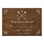 Rustic Tree Wedding RSVP Card Personalised Invitations