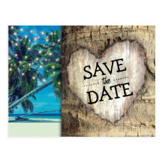 Rustic Tropical Beach Destination Save the Date