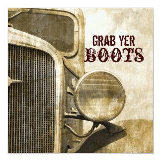 Rustic Truck Western Country Farm Wedding Card