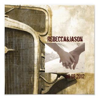 Rustic Truck Western Country Farm Wedding Photo Art