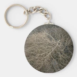 Rustic Tumbleweed Basic Round Button Key Ring