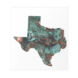 Rustic Turquoise Texas Notepad