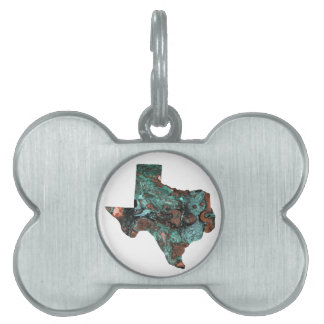 Rustic Turquoise Texas Pet Name Tag