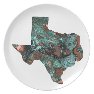 Rustic Turquoise Texas Plate