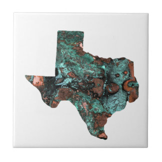Rustic Turquoise Texas Small Square Tile