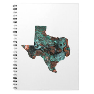 Rustic Turquoise Texas Spiral Notebook