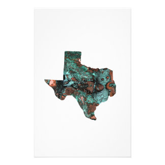 Rustic Turquoise Texas Stationery