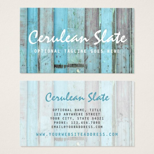 Rustic Turquoise Wood Vintage & Boho Chic Boutique Business Card
