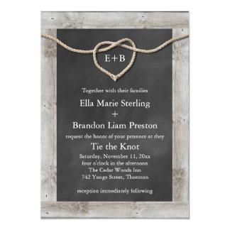 Rustic Tying the Knot Wedding Invitation