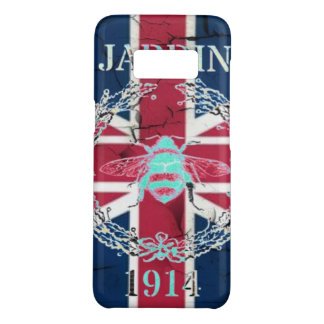 Rustic Union Jack Flag queen jubilee french bee Case-Mate Samsung Galaxy S8 Case