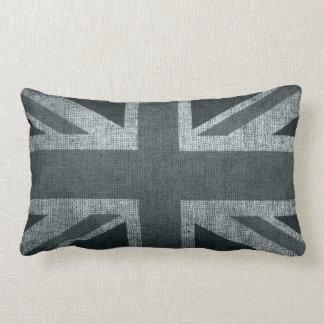 Rustic Union Jack in Greys Lumbar Cushion