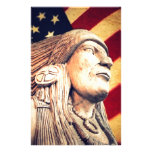 rustic USA flag patriotic Native American