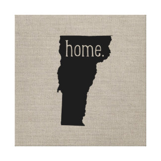 Rustic Vermont Home State Wrapped Canvas Art