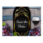 Rustic Vineyard Winery Wedding Save the Date