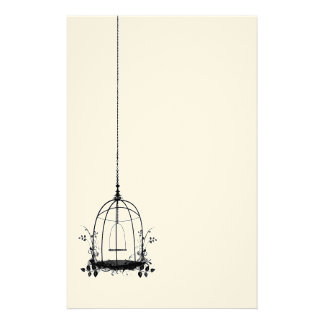 Rustic Vintage Bird Cage Stationery