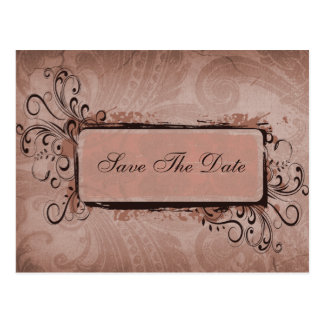 Rustic Vintage Blush Pink Wedding Postcard